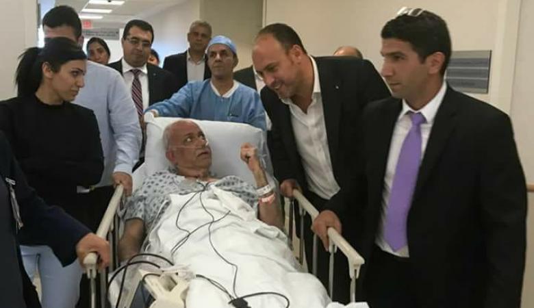 نجاح عملية زراعة الرئة للدكتور صائب عريقات