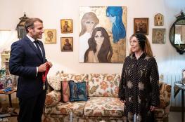 ابنة فيروز تنشر صوراً من لقائها بالرئيس الفرنسي إيمانويل ماكرون