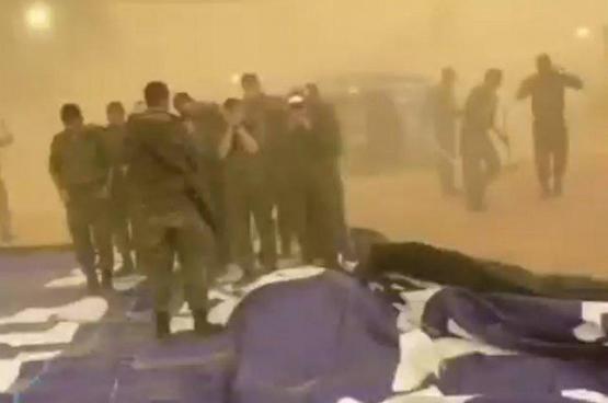 اصابة 4 جنود اسرائيليين جراء العاصفة الجوية