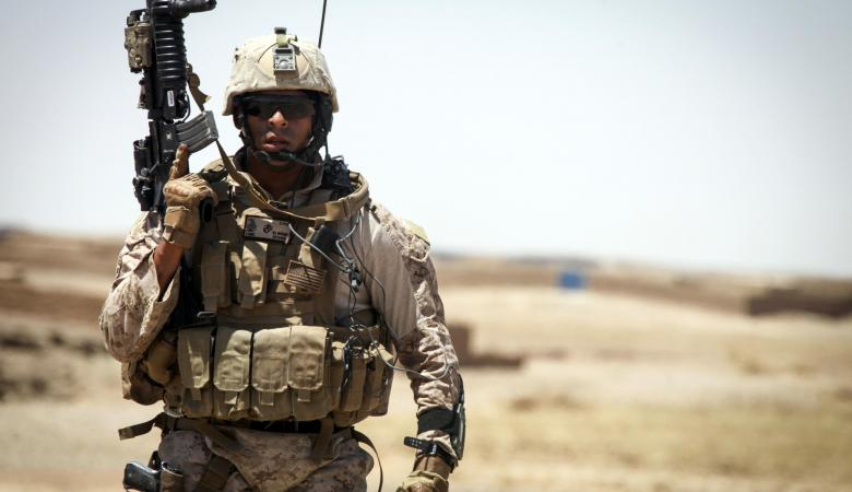 قوات مارينز امريكية تشارك في معركة الموصل