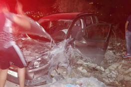6 إصابات بحادث سير شرق نابلس