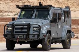 الاردن يدعم الامن الفلسطيني بمركبات عسكرية مدرعة