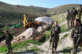 الاحتلال يدمر مصادر مياه بالأغوار الشمالية
