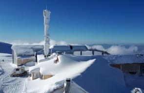 الثلوج تكسو جبل الشيخ شمال فلسطين المحتلة