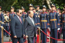 السيسي لعون: مستعدون لدعم قدرات الجيش اللبناني