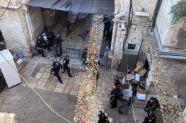 شاهد ..اصابة شابين برصاص الاحتلال في القدس