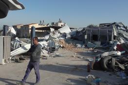 رام الله : الاحتلال يهدم منشأة صناعية ومسلخا للدواجن شرق نعلين