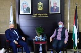 اجتماع بين محافظة رام الله ووزير المالية بشارة