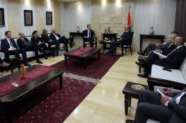 الحمد الله يبحث مع وزير خارجية النرويج أجندة مؤتمر المانحين