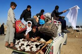 ارتفاع نازحي غربي الموصل إلى 320 ألفا