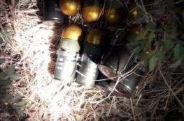 الشرطة تتلف 12 قنبلة في قرية المغير شرق جنين