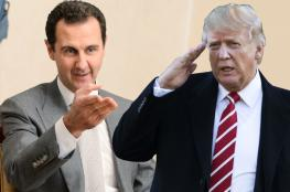 ترامب يبعث برسالة الى الرئيس السوري بشار الاسد ..هذا ما جاء فيها