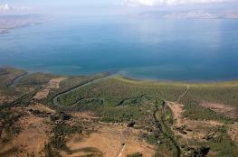 ارتفاع منسوب مياه بحيرة طبريا