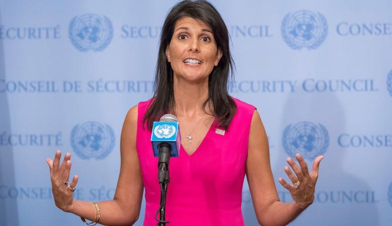 الخارجية الفلسطينية : نيكي هيلي سفيرة الحقد والكراهية ومعادية سافرة