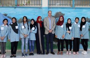 الامير البريطاني وليام يزور مخيم الجلزون للاجئيين الفلسطينيين شمال رام الله