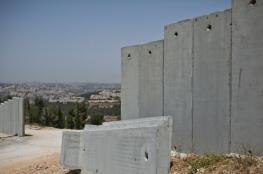 الاحتلال يشرع ببناء الجدار العزال فوق اراضي بلدة يعبد بجنين