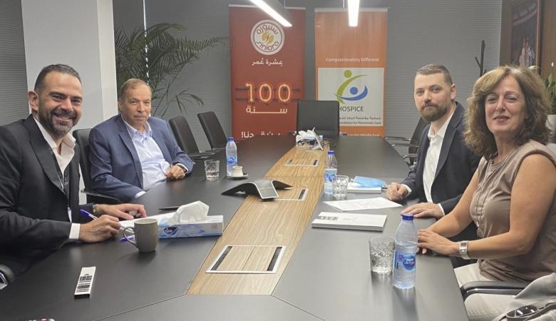 سنيورة تقدم الدعم الاستراتيجي لجمعية مؤسسة الملاذ للرعاية الانسانية في الأردن