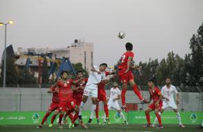 جانب من لقاء منتخبنا الأولمبي مع ضيفه منتخب طاجيكستان في الخليل