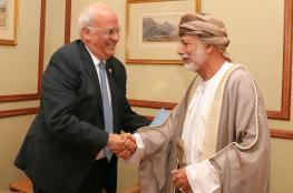 عريقات يبحث مع وزير خارجية عمان تطورات القضية الفلسطينية
