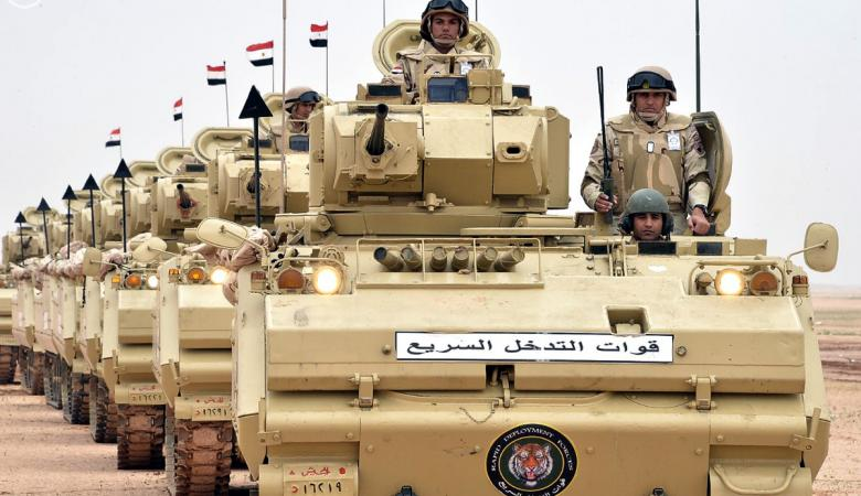 الجيش المصري يعلن مقتل 47 مسلحاً في عمليات بسيناء