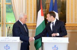 الرئيس يبحث حجز اموال  المقاصىة مع الرئيس الفرنسي