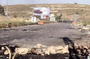 المواجهات العنيفة مع قوات الاحتلال على المدخل الشمالي لمدينة البيرة، نصرةً للأسرى المضربين عن الطعام.