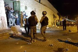 15 اصابة بمواجهات في البلدة القديمة بالقدس
