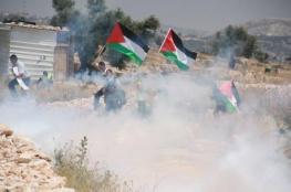 اصابة عشرات المواطنين في قمع الاحتلال لمسيرة نعلين الاسبوعية