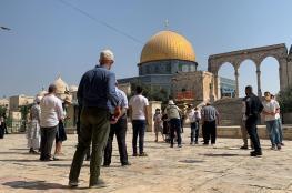 129 مستوطن اقتحموا المسجد الاقصى المبارك