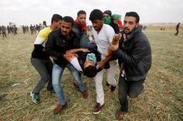 اصابة ثلاثة شبان برصاص الاحتلال جنوب قطاع غزة