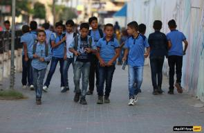 قطاع غزة ..طلاب المدارس يعودون الى مقاعد الدراسة بعد نحو 5 شهور من الاجازة