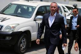 ميلادينوف يصل قطاع غزة لبحث تفاهمات التهدئة