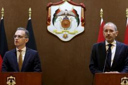 المانيا والاردن : لا بديل عن حل الدولتين