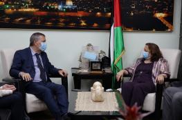 وزيرة الصحة تبحث سبل التعاون مع المفوض العام لوكالة اونروا