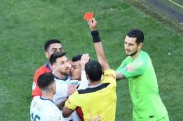 """ميسي يخرج من بطولة """"كوبا اميركا """" ببطاقة حمراء تاريخية"""