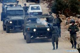اصابات في قمع لاحتلال لمسيرة مناهضة للاستيطان جنوب نابلس