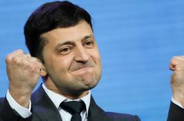 ممثل  كوميدي يهودي رئيساً لاوكرانيا