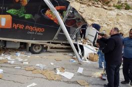 اصابة 6 مواطنين بحادث سير مروع شرق القدس
