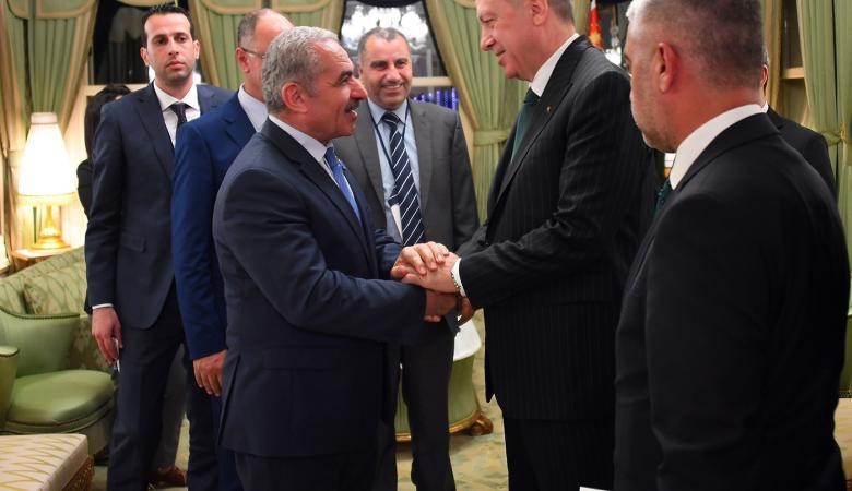 اشتيه يؤكد لاردوغان : جاهزون للذهاب فورا الى غزة