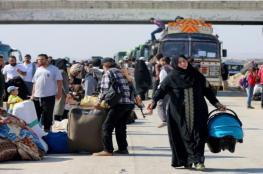 """10 آلاف سوري من درعا يصلون مناطق المعارضة ... ومعارك بـ""""حوض اليرموك"""""""