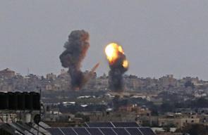جانب من القصف الاسرائيلي الذي استهداف مناطق في غزة