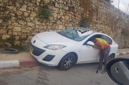 الشرطة تتلف 75 مركبة غير قانونية في قرى شمال غرب القدس