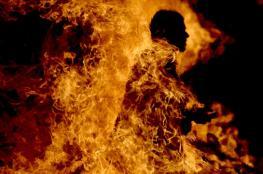 اصابة شاب بجراح بعد ان اشعل النار بنفسه شرق الخليل