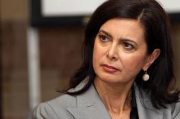 رئيسة البرلمان الايطالي: لا يمكن تجاهل نداء فلسطين