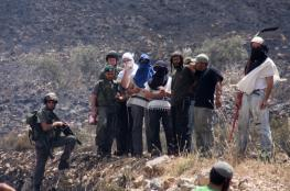 اصابة شاب في هجوم للمستوطنين على قرية بورين جنوب نابلس
