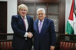 الرئيس عباس يطمئن على صحة رئيس الوزراء البريطاني بعد اصابته بالكورونا