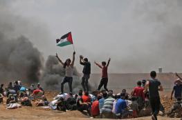 اصابة 33 مواطنا بينهم أطفال ومسعفون في قمع الاحتلال لمسيرات العودة