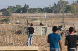 اصابة شاب في مواجهات مع الاحتلال وسط قطاع غزة