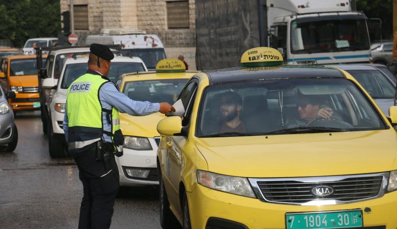 الشرطة والدفاع المدني والمواصلات ينفذون حملة توعية في الضفة الغربية