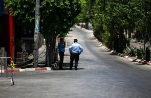 اغلاق شامل في مدينة رام الله ضمن جهود الحكومة لمنع تفشي كورونا